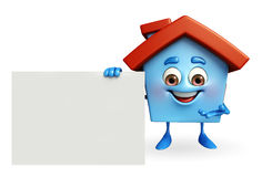 House character with  sign Royalty Free Stock Images