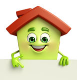 House character with  sign Stock Image