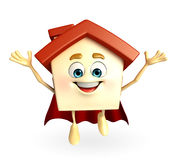 House character  of super house Stock Image