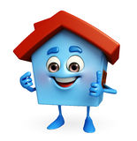 House character with thumbs up sign Stock Photo
