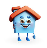 House character with thumbs up sign Royalty Free Stock Image