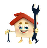 House character with wrench Stock Images