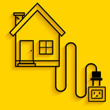 House charging line art Stock Photography