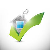 House and check mark illustration design Royalty Free Stock Image