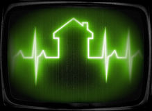 House check up. Fine 3d image of cardio house stat with space for text Stock Images