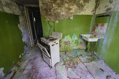 House in Chernobyl Zone Stock Photos
