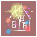 House child drawing 3 Royalty Free Stock Image