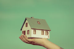 House in children's hands Stock Photography