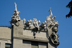 The house with chimeras in Kiev Royalty Free Stock Image