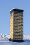 House chimney wintertime Stock Photo