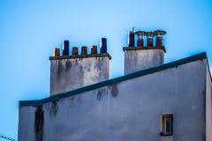 House chimneys Stock Photo