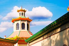 House chinese style. Over the blue sky Royalty Free Stock Photo