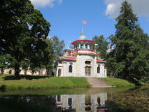House Chinese style in the Park pond Royalty Free Stock Photo