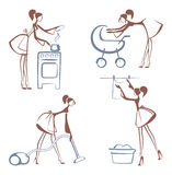 House Chores symbols Royalty Free Stock Images