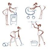 House Chores symbols Royalty Free Stock Images