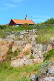 House on Christiansoe island Bornholm Denmark Royalty Free Stock Photos