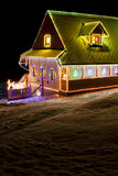House at Christmas Stock Photos