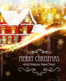 House on Christmas background Royalty Free Stock Photography