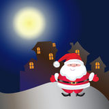 House on christmas day. At night time Royalty Free Stock Image