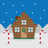 House Christmas Decorations Stock Images