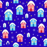 House christmas seamless pattern vector Stock Image