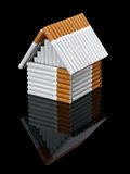 The house from cigarettes Royalty Free Stock Images