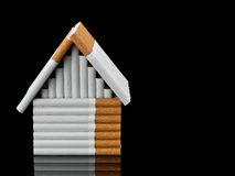 The house from cigarettes Royalty Free Stock Photography
