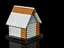 The house from cigarettes Stock Photography