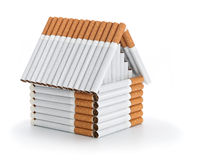 The house from cigarettes Stock Photos