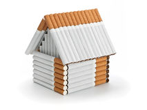 The house from cigarettes Stock Image