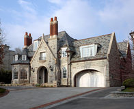 House with circular driveway Stock Image