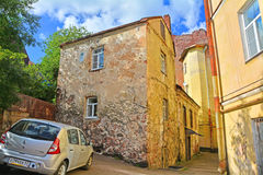 House of the citizen of 16th century in Vyborg, Russia Royalty Free Stock Photos