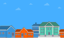 House city landscape of vector flat. Collection stock Royalty Free Stock Photography