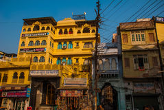 House in the city Udaipur, India. Royalty Free Stock Photography