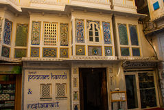 House in the city Udaipur, India. Stock Image