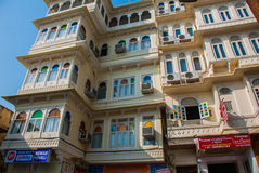 House in the city Udaipur, India. Royalty Free Stock Image