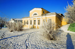House in the classical style in the winter Royalty Free Stock Photography