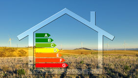 House classification five. Energy scale and habitat classification Stock Photography