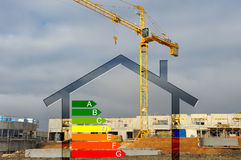 House classification four. Energy classification of new construction Royalty Free Stock Photography