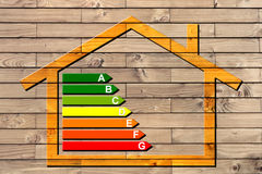 House classification three. Classification symbol of the thermal protection of homes stock images