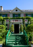 The House of Claude Monet - Giverny, France. The house of the impressionist painter Claude Monet in Giverny, France Royalty Free Stock Photo