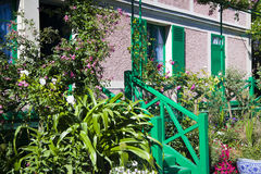 House of Claude Monet in Giverny. House and garden of Claude Monet in Giverny on a sunny day Royalty Free Stock Photo