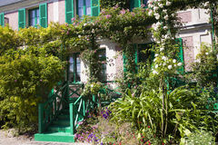 House of Claude Monet in Giverny. House and garden of Claude Monet in Giverny on a sunny day Stock Image