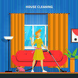 House Cleaning Background Illustration Stock Photography