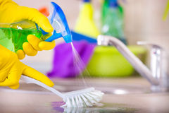House cleaning concept Stock Images