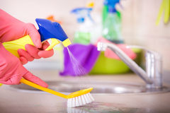 House cleaning concept Royalty Free Stock Photos