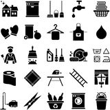 House cleaning icons Royalty Free Stock Photography