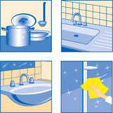 House Cleaning icons Stock Photography