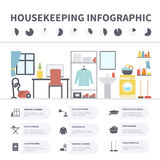House cleaning infographic Stock Photos
