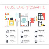 House cleaning infographic Royalty Free Stock Photo